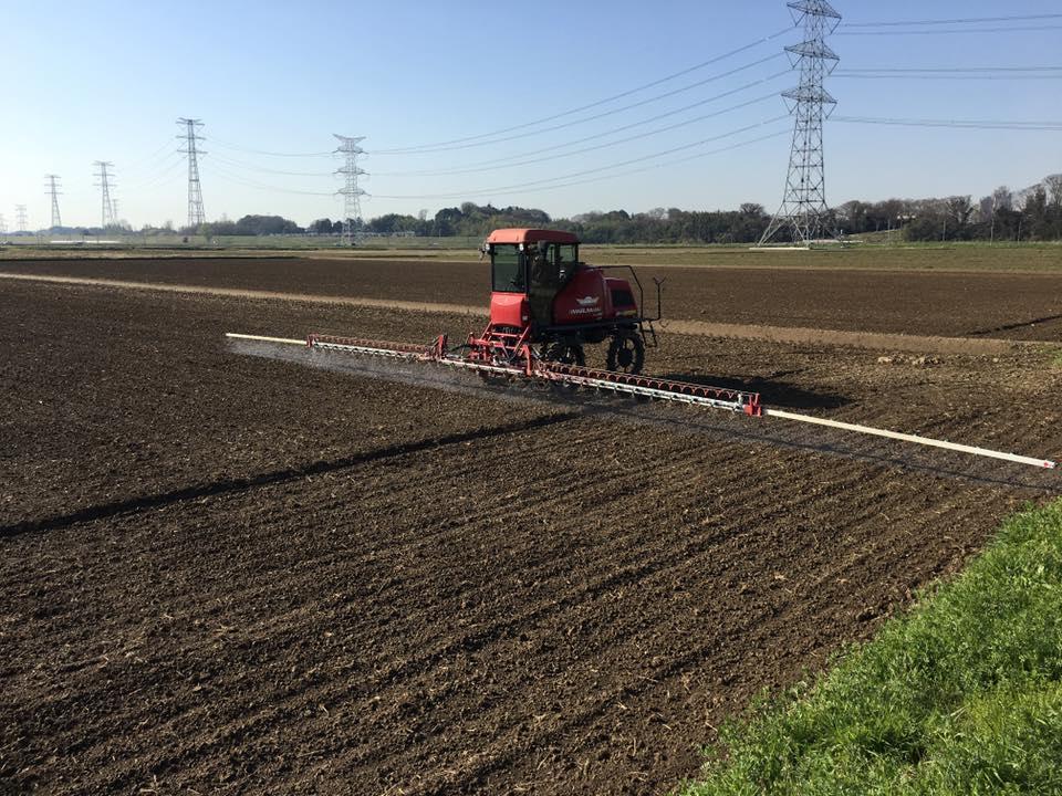 乾田直播土壌散布
